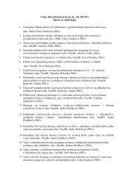 Témy dizertačných prác na ak. rok 2010/11 Športová edukológia 1 ...