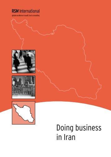 Doing business in Iran - Dayarayan.net