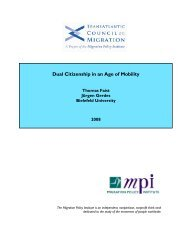 Dual Citizenship in an Age of Mobility - Migration Policy Institute