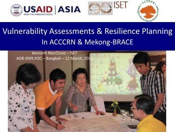 Vulnerability Assessments & Resilience Planning - GMS-EOC