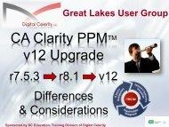 Clarity PPM v12 Upgrade - Digital Celerity