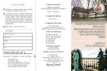 MISKOLC 2008. JÚNIUS 6–7. - Magyar Gyermekorvosok Társasága