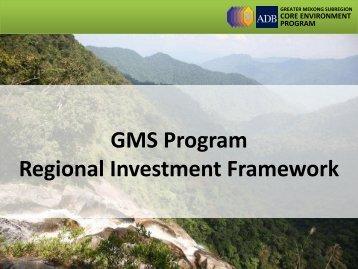 GMS Program Regional Investment Framework - GMS-EOC