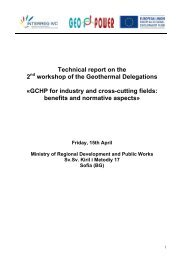 Technical report on the 2nd workshop of the ... - geo.power