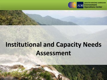 Institutional and Capacity Needs Assessment - GMS-EOC