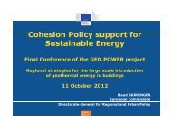 Cohesion Policy support for Sustainable Energy - geo.power