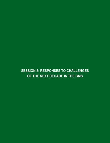 SeSSion 5: ReSponSeS to challengeS of the next ... - GMS-EOC