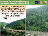 Day 1-6 GMS-ECP by Jim Peters - Greater Mekong Subregion ...