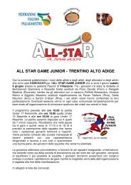 ALL STAR GAME JUNIOR - TRENTINO ALTO ADIGE
