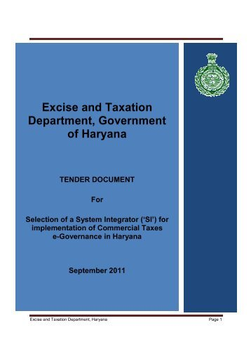 00 Title Page.docx - Government of Haryana