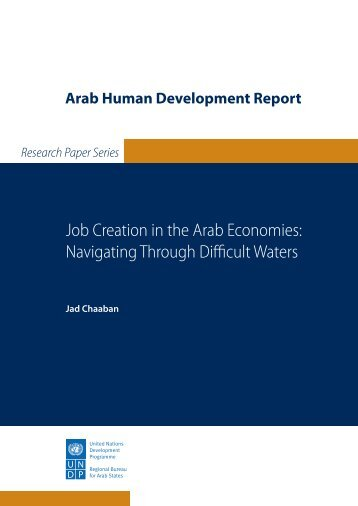 Job Creation in the Arab Economies - Arab Human Development ...