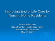 Improving End of Life Care for Nursing Home Residents - Health ...