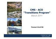 "CMS - ACO ""Transitions Program"" - Health Industry Forum"