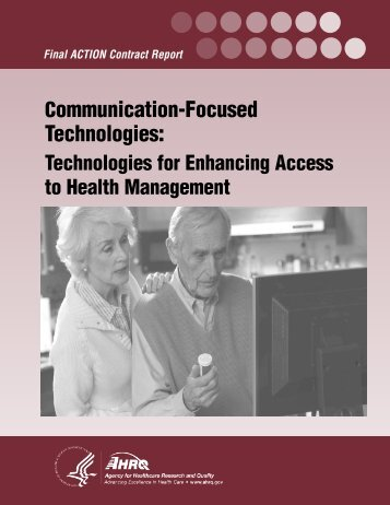 Communication-Focused Technologies - AHRQ National Resource ...