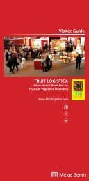 Visitor Guide content pages - Fruit Logistica