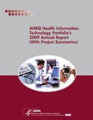 AHRQ Health Information Technology Portfolio's 2009 Annual Report