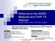 Emerging Applications in Medicaid and CHIP Programs Utilizing ...