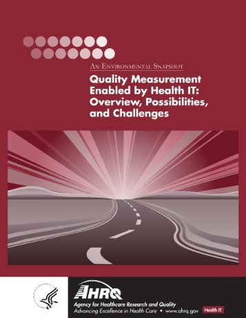 Quality Measurement Enabled by Health IT - AHRQ National ...