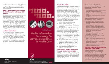 Health Information Technology To Advance Excellence in Health Care