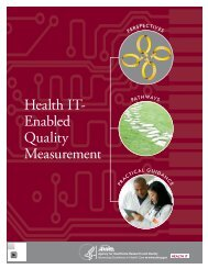 report - AHRQ National Resource Center; Health Information ...