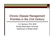 Chronic Disease Management Priorities in the 21st Century