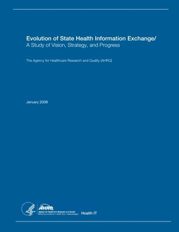 Evolution of State Health Information Exchange/ - AHRQ National ...