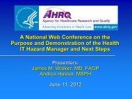 Hazard - AHRQ National Resource Center; Health Information ...