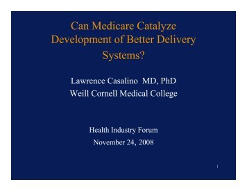 Can Medicare Catalyze Development of Better Delivery Systems ...