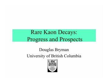 Rare Kaon Decays: Progress and Prospects - HEP