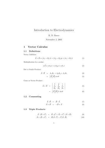 introduction to electrodynamics Description for junior/senior-level electricity and magnetism courses this book  is known for its clear, concise, and accessible coverage of standard topics in a.