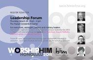 Leadership Forum - him online