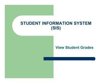 student information manual system The state reporting module for opensis continues to demonstrate our commitment to providing our clients with the best open source student information system in the market the state reporting module is a client specific module requiring a custom services engagement to customize the module to comply with your state's specific reporting requirements.