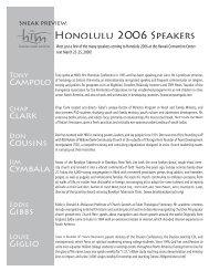 Honolulu 2006 Speakers - him online