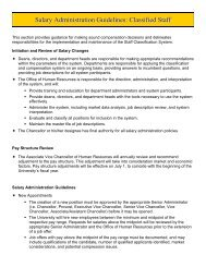 Salary Administration Guidelines: Classified Staff - Human Resources