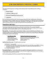 Job Description Writing Guide - Human Resources