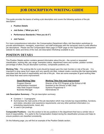 personnel director job description