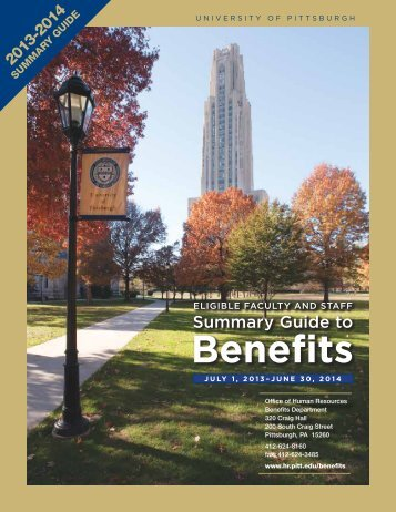 Summary Guide - Human Resources - University of Pittsburgh