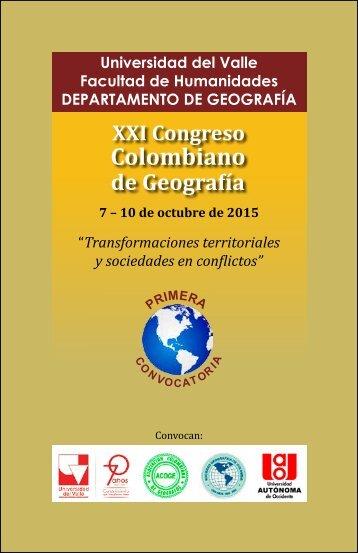 convocatoria XXI Congreso GEOGRAFIA -WEB