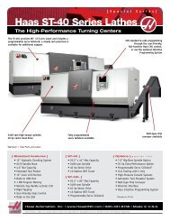 Haas ST-40 Series Lathes