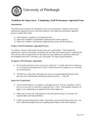 Guidelines for Supervisors: Completing a Staff Performance Appraisal