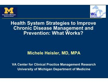 Health System Strategies to Improve Chronic Disease Management ...