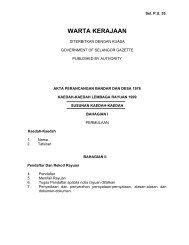 WARTA KERAJAAN - JPBD Selangor