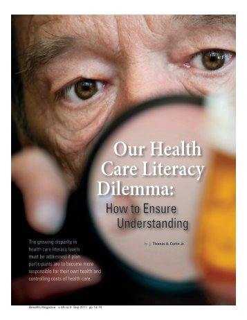 Our Health Care Literacy Dilemma: - International Foundation of ...