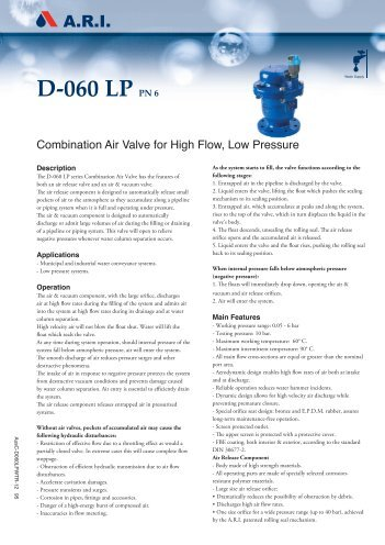 Air Valve Technology Reviewed Gt Smith Amp Associates