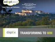 Download Detailed Agenda - Daptiv
