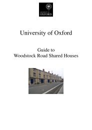 THE CITY OF OXFORD General Information - Central Administration ...