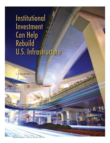 Institutional Investment Can Help Rebuild U.S. Infrastructure