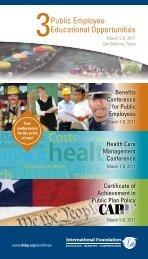 3 Public Employee Educational Opportunities - Full Brochure