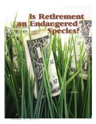 Is Retirement an Endangered Species?? - International Foundation ...