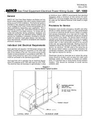 k REINCe Gas Fired Equipment Electrical Power Wiring Guide GF ...